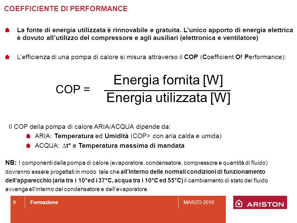 Energia utilizzata [W]
